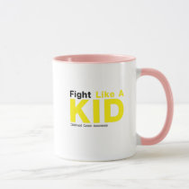 Fight Like A Kid Childhood Cancer Awareness Mug