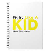 Fight Like A Kid Childhood Cancer Awareness Notebook