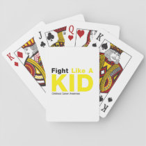 Fight Like A Kid Childhood Cancer Awareness Playing Cards