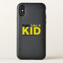 Fight Like A Kid Childhood Cancer Awareness Speck iPhone X Case