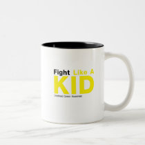 Fight Like A Kid Childhood Cancer Awareness Two-Tone Coffee Mug