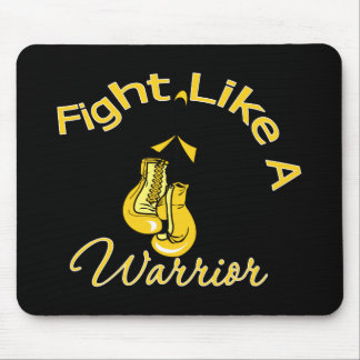 Fight Like A Warrior Childhood Cancer Mouse Pad