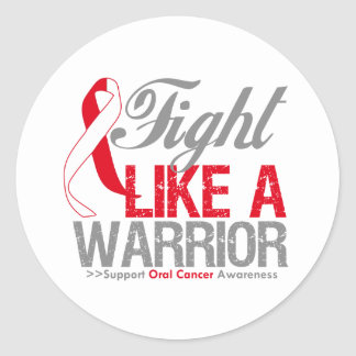 Fight Like a Warrior Oral Cancer Stickers