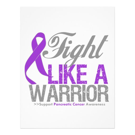 Fight Like a Warrior Pancreatic Cancer Flyer Design