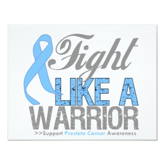 Fight Like a Warrior Prostate Cancer 4.25x5.5 Paper Invitation Card