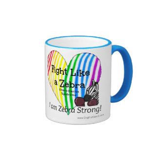 Fight Like a Zebra Ehlers-Danlos Awareness (mug) Ringer Coffee Mug