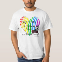 Fight Like a Zebra Ehlers-Danlos Awareness T-Shirt