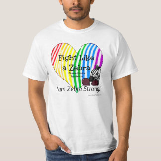 Fight Like a Zebra Ehlers-Danlos Awareness T-shirt