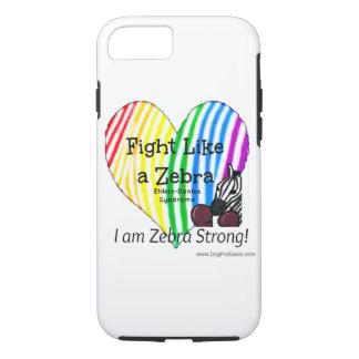 Fight Like a Zebra iPhone case