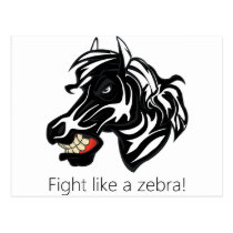 Fight Like a Zebra.png Postcard