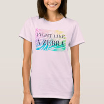 fight like a zebra rainbow tee