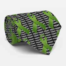 Fight Liver Cancer Emerald Ribbon Tie