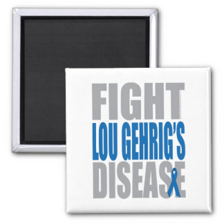 Fight Lou Gehrig's Disease 2 Inch Square Magnet