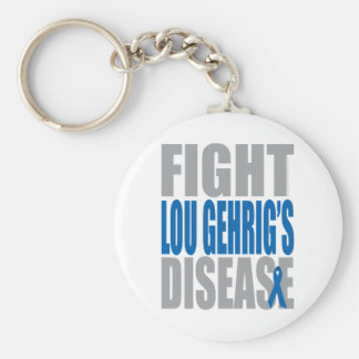 Fight Lou Gehrig's Disease Basic Round Button Keychain
