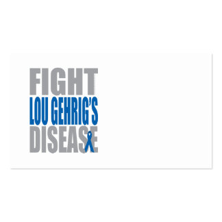 Fight Lou Gehrig's Disease Business Card