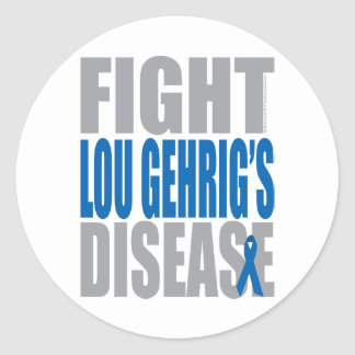 Fight Lou Gehrig's Disease Classic Round Sticker