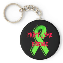 FIGHT LYME DISEASE 2 KEYCHAIN