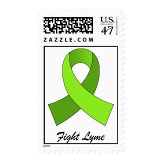 Fight Lyme Ribbon postage stamp