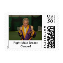 Fight Male Breast Cancer Postage
