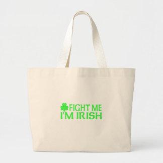 Fight Me I'm Irish Canvas Bags