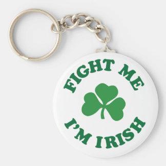 fight me I'm irish Keychain