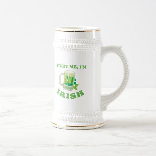 FIGHT ME IM IRISH T-Shirt Coffee Mugs