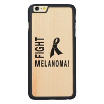 Fight Melanoma Carved Maple iPhone 6 Plus Slim Case