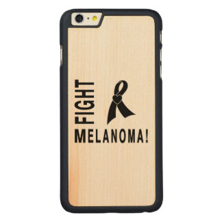 Fight Melanoma Carved Maple iPhone 6 Plus Slim Case