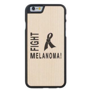 Fight Melanoma Carved Maple iPhone 6 Slim Case