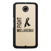 Fight Melanoma Carved Wood Google Nexus 6 Case