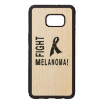 Fight Melanoma Carved Wood Samsung Galaxy S6 Edge Plus Case