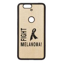Fight Melanoma Wood Nexus 6P Case