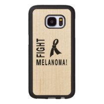 Fight Melanoma Wood Samsung Galaxy S7 Case