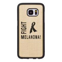 Fight Melanoma Wood Samsung Galaxy S7 Edge Case