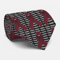 Fight Multiple Myeloma Cancer Burgundy Ribbon Neck Tie