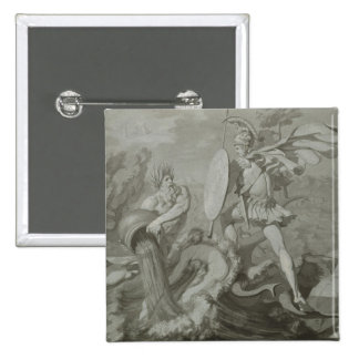 Fight of Achilles with the River Scamander Pinback Button