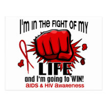 Fight Of My Life 2 AIDS Postcard