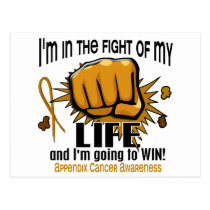 Fight Of My Life 2 Appendix Cancer Postcard