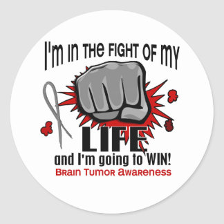 Fight Of My Life 2 Brain Tumor Classic Round Sticker