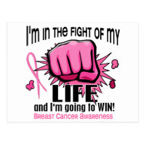 Fight Of My Life 2 Breast Cancer Postcard