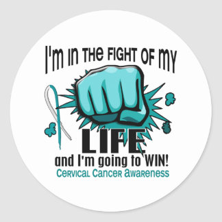 Fight Of My Life 2 Cervical Cancer Classic Round Sticker