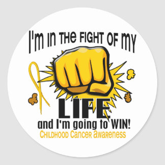 Fight Of My Life 2 Childhood Cancer Classic Round Sticker