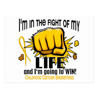 Fight Of My Life 2 Childhood Cancer Postcard