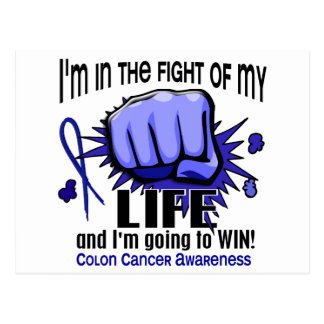 Fight Of My Life 2 Colon Cancer Postcard