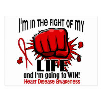 Fight Of My Life 2 Heart Disease Postcard