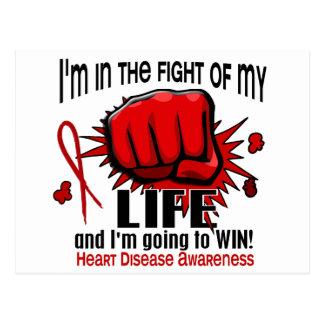 Fight Of My Life 2 Heart Disease Postcard