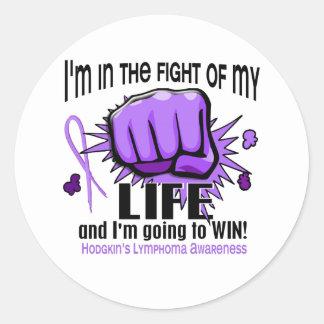 Fight Of My Life 2 Hodgkin's Lymphoma Classic Round Sticker