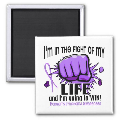 Fight Of My Life 2 Hodgkin's Lymphoma 2 Inch Square Magnet