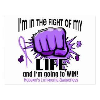 Fight Of My Life 2 Hodgkin's Lymphoma Postcard