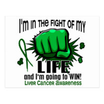 Fight Of My Life 2 Liver Cancer Postcard